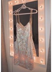 dress,light pink and blue dress,sparkly dress,bodycon dress,mini dress,open back,open back dresses,short dress,homecoming dress