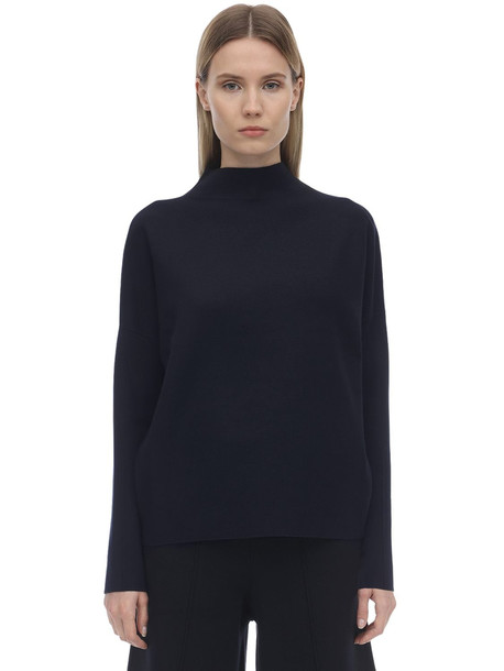 FALKE Oversize Technical Viscose Blend Sweater in navy
