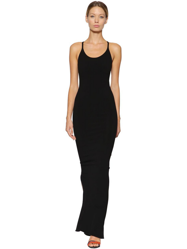 DSQUARED2 Technical Knit Long Dress in black