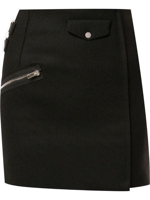 Yang Li straight mini skirt in black