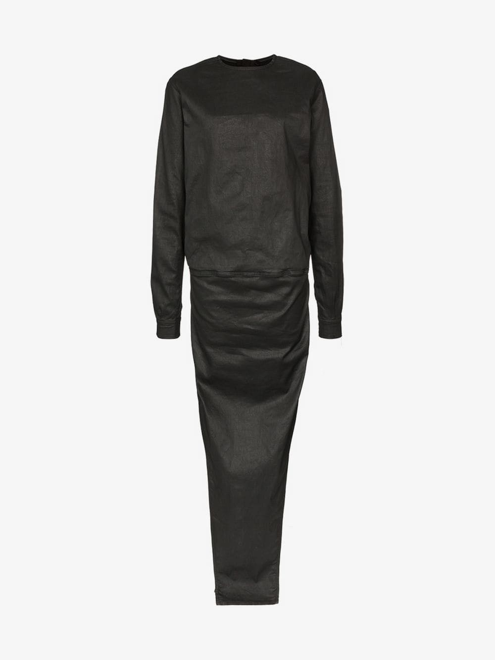 Rick Owens double-layer maxi dress in black