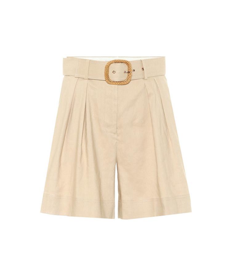 Rebecca Vallance Mojito linen-blend Bermuda shorts in beige