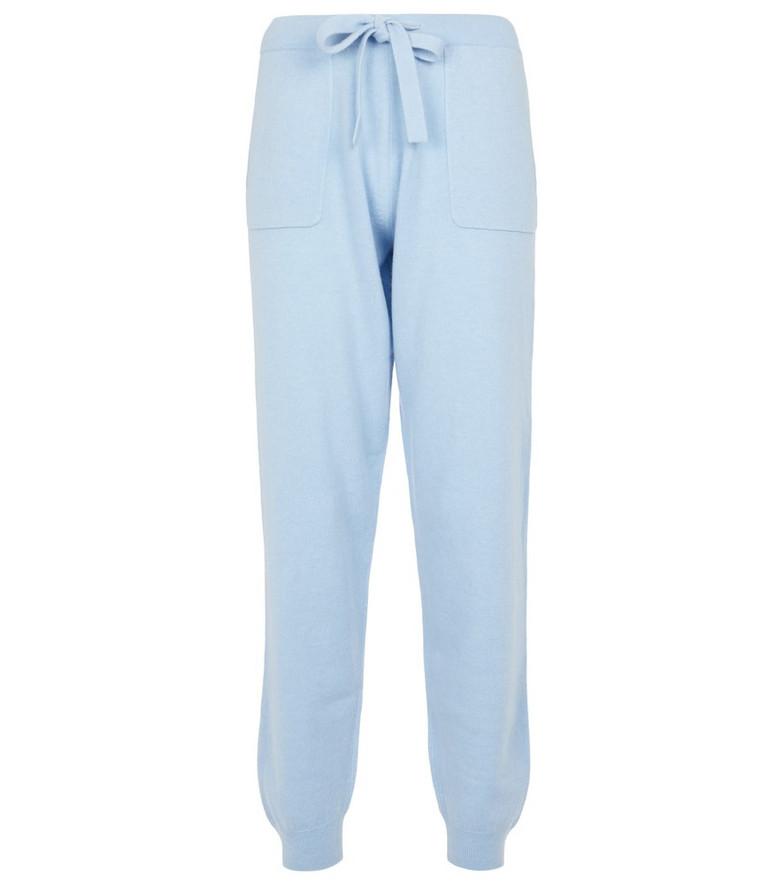 Jardin des Orangers Wool and cashmere sweatpants in blue