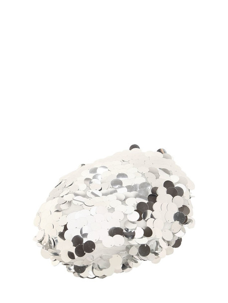 MAISON MICHEL New Billy Sequined Beret in silver