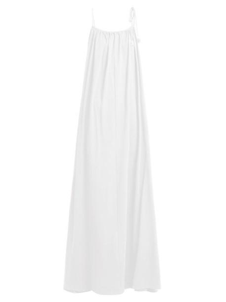The Row - Dresia Gathered Pima Cotton Maxi Dress - Womens - White