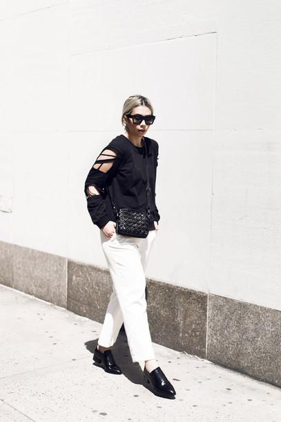 tar marz blogger sweater pants bag shoes sunglasses