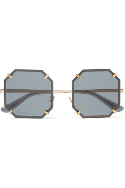 Dolce & Gabbana - Square-frame Gold-tone Sunglasses - Black