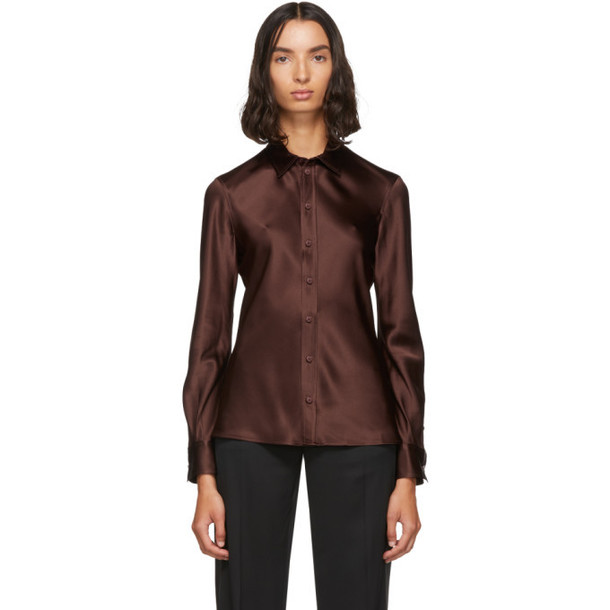 Joseph Brown Silk George Shirt