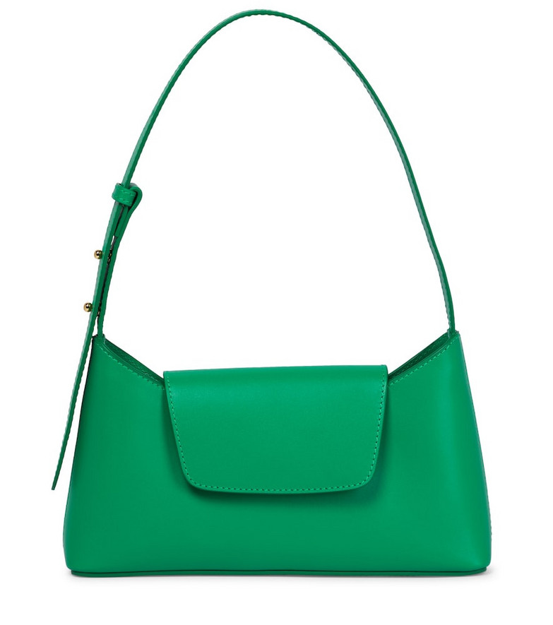 Elleme Envelope leather shoulder bag in green