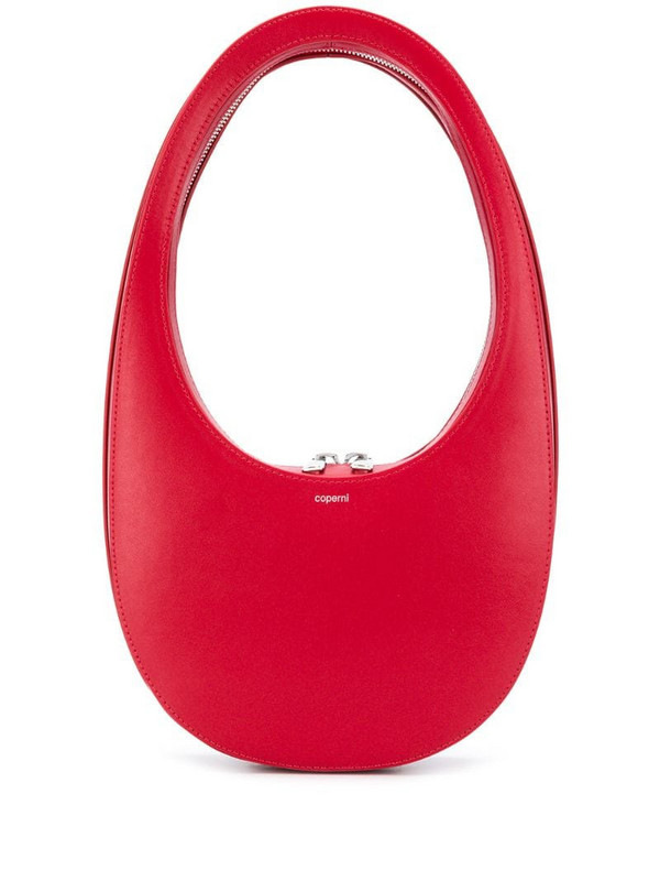 Coperni Swipe leather Hobo bag in red