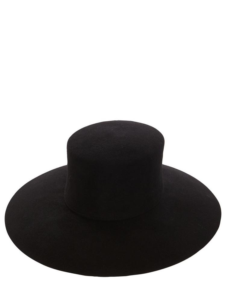 ALBERTA FERRETTI Wide Brim Felt Hat in black