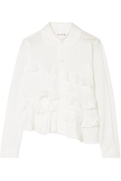 Comme des Garçons GIRL - Ruffled Cotton-poplin Shirt - White