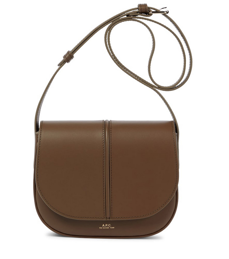 A.P.C. Betty leather crossbody bag in brown