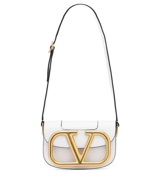 Valentino Garavani Supervee leather shoulder bag in white