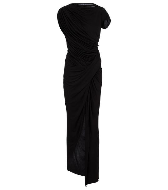 Rick Owens Lilies jersey maxi dress in black
