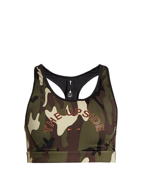 The Upside - Anna Camouflage Print Performance Bra - Womens - Camouflage