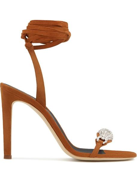 Giuseppe Zanotti Thais 105mm sandals in brown