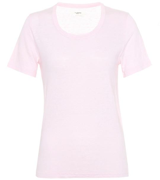 Isabel Marant, Étoile Kiliann linen T-shirt in pink