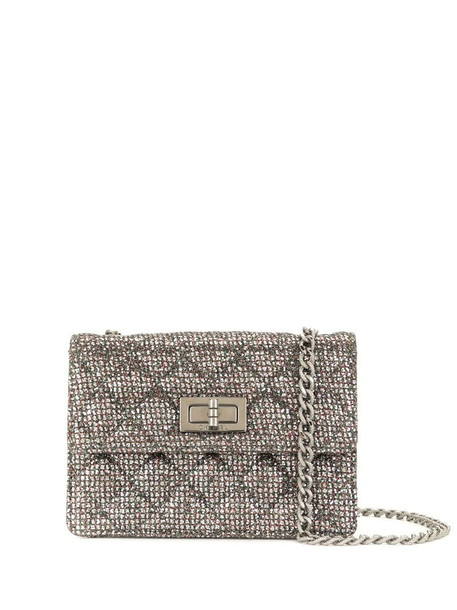 Chanel Pre-Owned 2010 2.55 mini quilted shoulder bag in grey