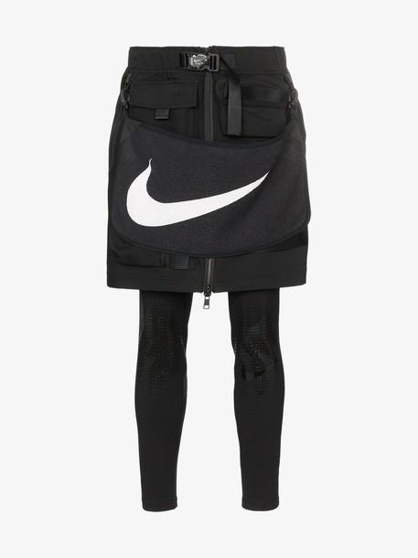 Nike x MMW Logo Towel Belted Utility Skirt in black