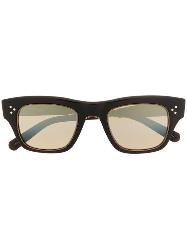 Garrett Leight light tinted sunglasses in brown