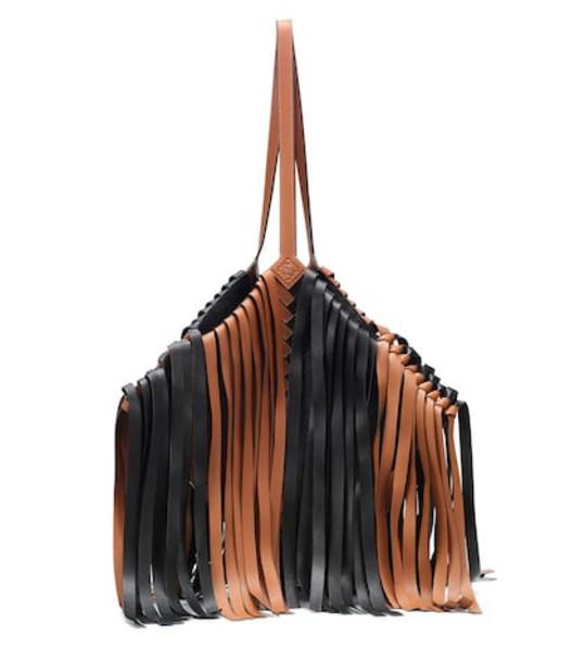 Loewe Cocotte leather shoulder bag in brown