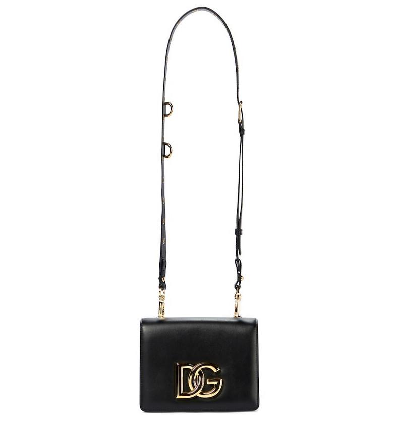 Dolce & Gabbana DG leather shoulder bag in black