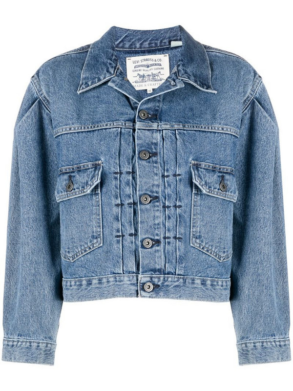 Levi's: Made & Crafted Type ll denim trucker jacket in blue