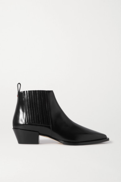 aeyde - Bea Leather Ankle Boots - Black