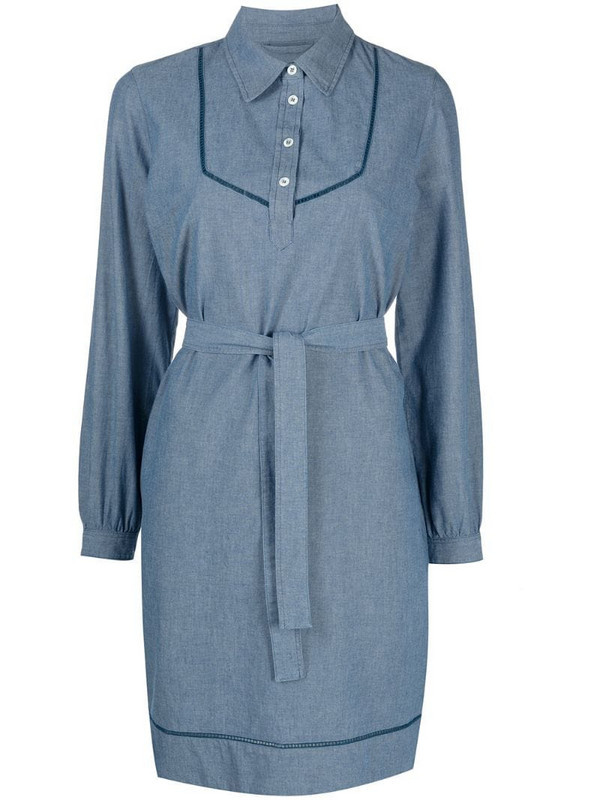 A.P.C. cotton shirt dress in blue