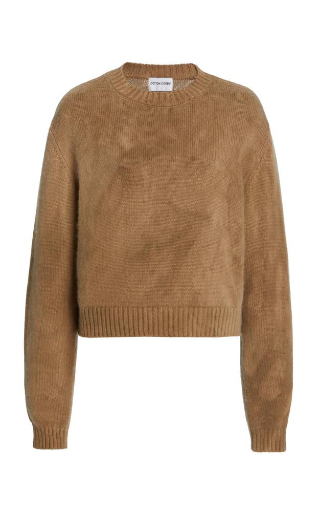 Cotton Citizen Lima Cashmere-Cotton Sweater in brown
