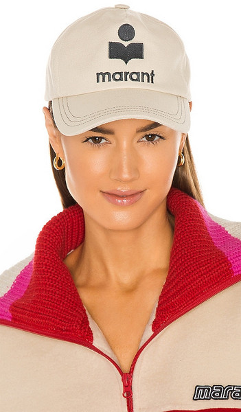 Isabel Marant Tyron Hat in Beige in ecru