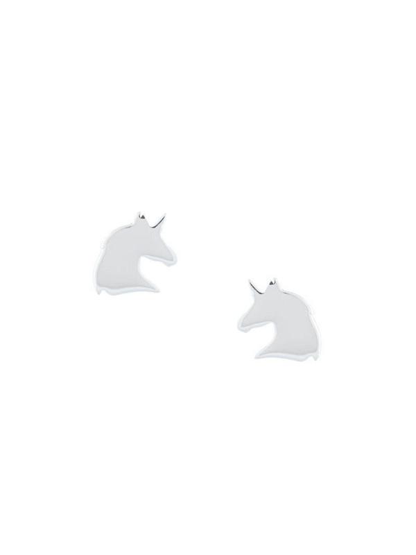 Karen Walker Unicorn stud earrings in silver