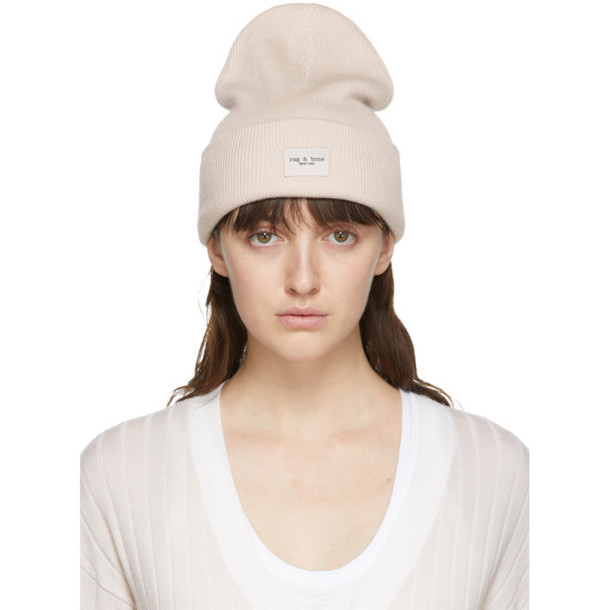 rag and bone Off-White Wool Addison Beanie