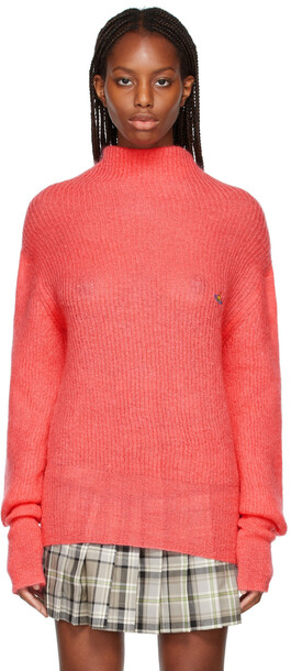 Vivienne Westwood Pink Mohair Lisa High Neck Sweater