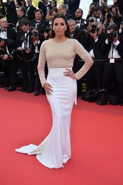 dress gown red carpet dress red carpet cannes eva longoria long dress