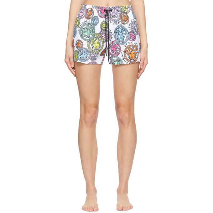 Versace Underwear Multicolor Medusa Amplified Swim Print Shorts in multi