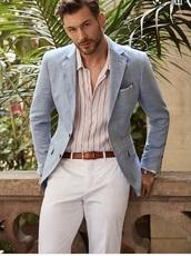 shirt,button up light pink blue stripes