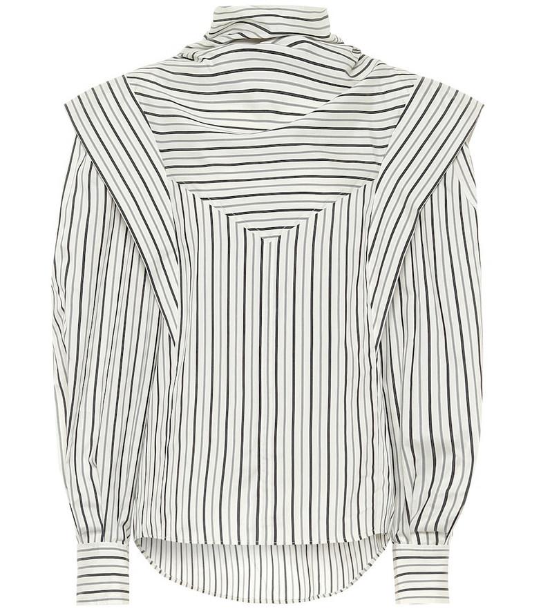 Isabel Marant Bianca striped silk-twill blouse in beige