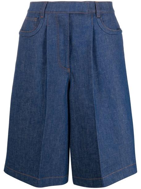 Fendi denim Bermuda shorts - Blue