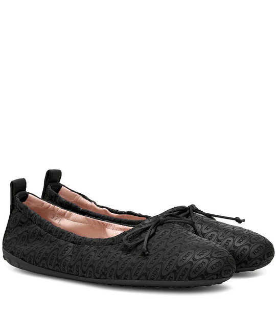 Tod's Exclusive to Mytheresa – leather ballet flats in black