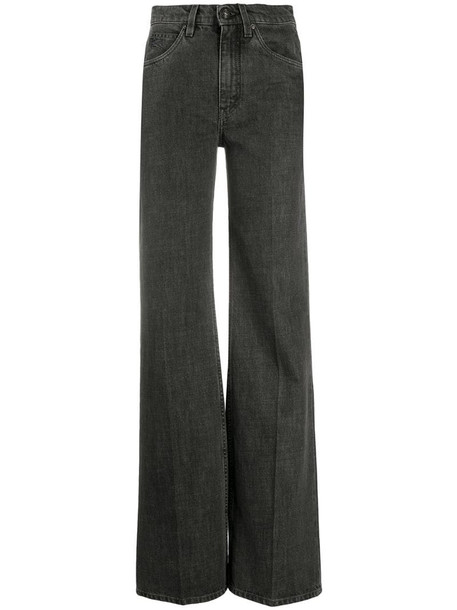Etro high-rise wide leg jeans in grey
