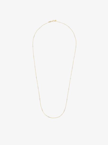 Rosa De La Cruz Yellow gold Pearl dot 18k gold necklace