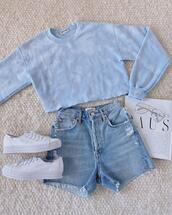 shoes,shorts,sweater