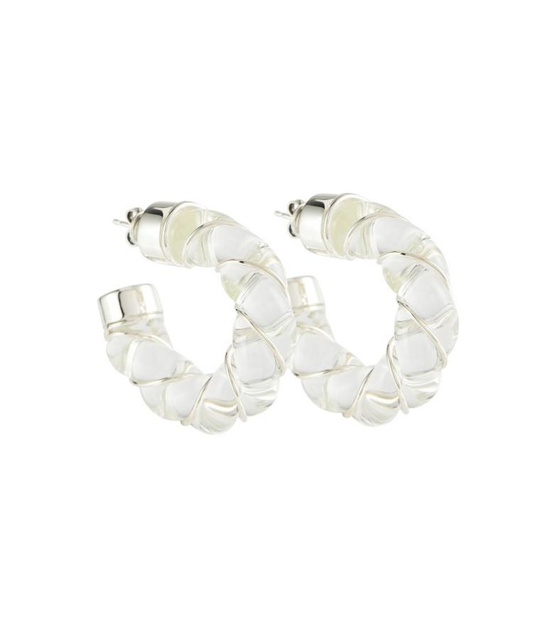 Bottega Veneta Twist demi-hoop earrings in white