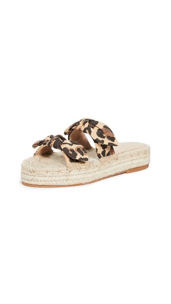 Loeffler Randall Daisy Espadrille Platform Sandals in leopard