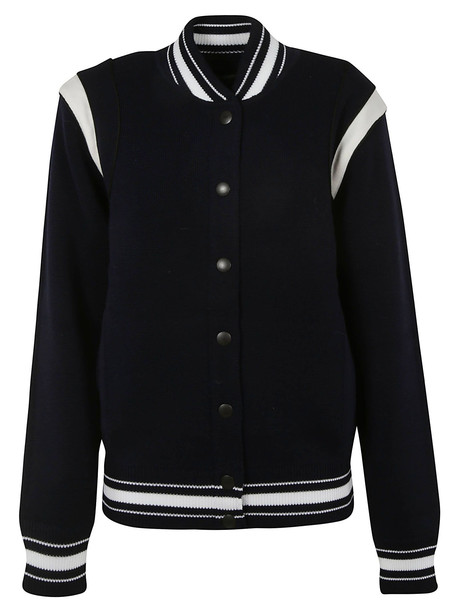 Givenchy Buttoned Bomber in navy