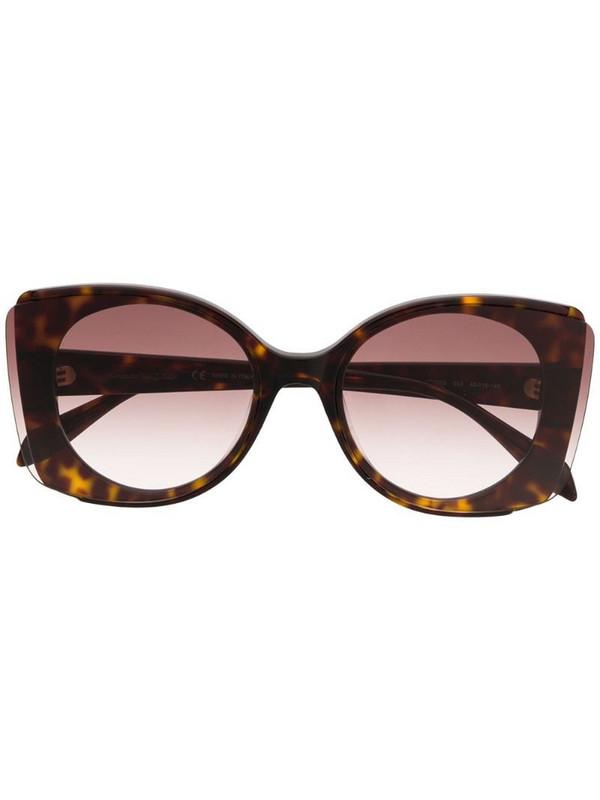 Alexander McQueen Eyewear oversized sunglasses in brown
