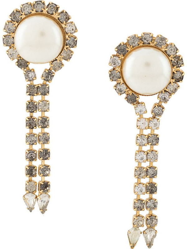 A.N.G.E.L.O. Vintage Cult 1980s pearl drop earrings in gold