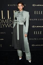 skirt,pants,top,shirt,jacket,zendaya,celebrity